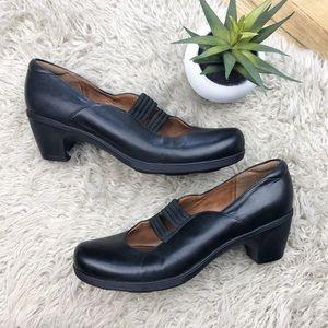 Clarks Shoes - •CLARKS ARTISAN•Black Brigita Glory Mary Jane Heel